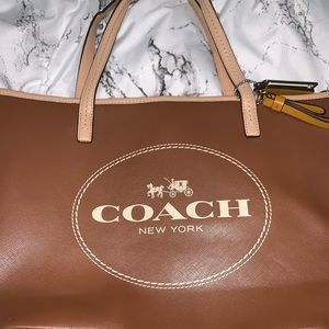 Coach Small Brown Tote Bag